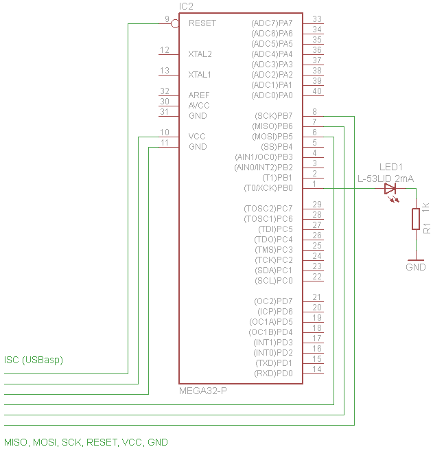 ATmega32 schéma